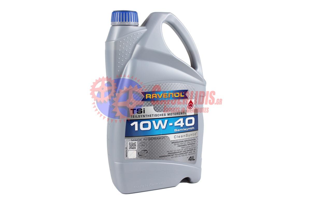 Λάδι Tsi SAE 10W-40 4L RAVENOL OIL0080