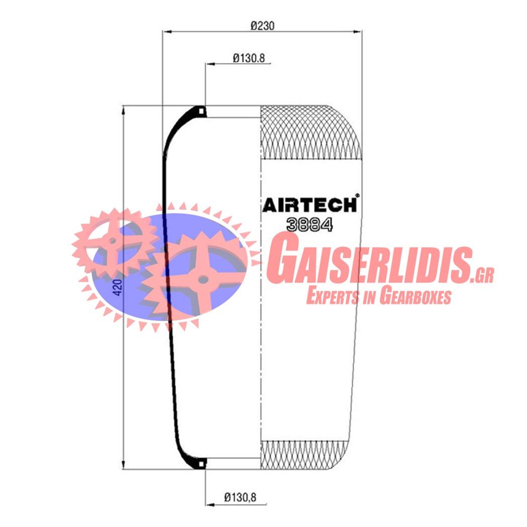 Αερόφουσκα AK 3884 81436010108 19.W0020